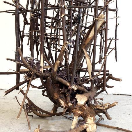(Detail) Last Tree 2018, tree roots, branches, wire 170x50x50cm