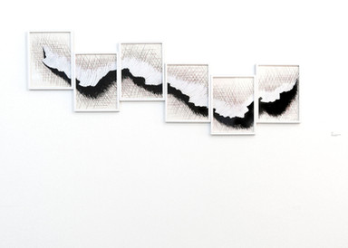 Mountains series, 2011. Acrylic and graphite on paper. 60 x 160 cm