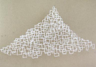 New Mountains Series, 2019, crayon paper. 30 x 40 cm