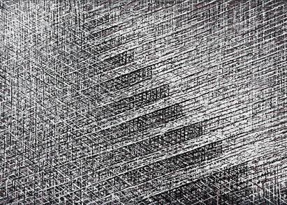 Stairways, 2013, acrylic on paper, 73 x 108 cm