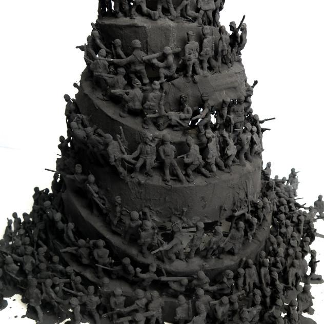 Ceremonies, 2011. Plastic figurines and straw. 40 x 40 x 40 cm. Editions 1-3.