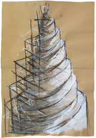 Tower series, 2016. Acrylic on paper. 42 x 28 cm