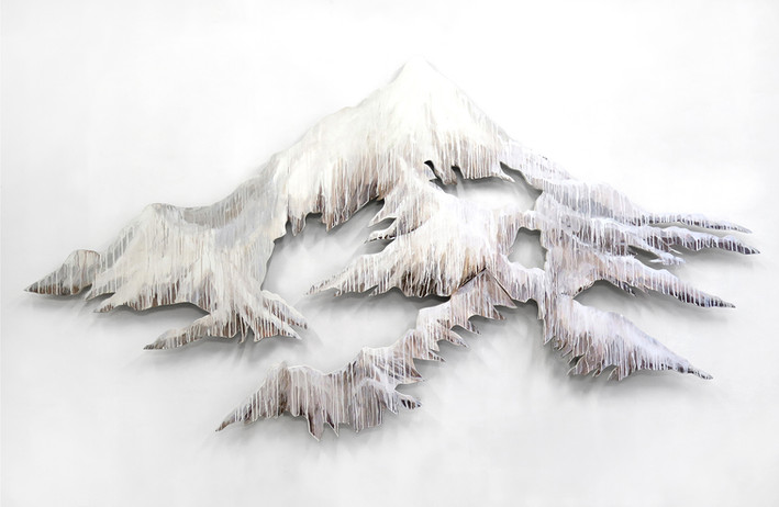 A poem to Mountain at the edge of the World 2019, 180cm h. 300cm w. 7cm c