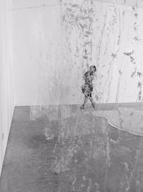 Phantom Land, 2017. Hard board, foam board, plaster of Paris, grout and acrylic paint. 5 x 700 x 900 cm. 13th Sharjah Biennale Tamawuj, Sharjah, 2017