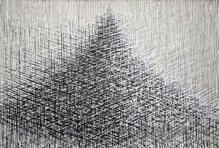 """From the Series """"Towers""""2014 acrylic on paper, 100 x 145cm"""