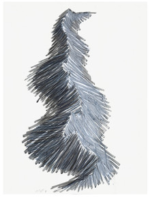 Mountains series, 2011. Acrylic and graphite on paper. 80 x 60 cm