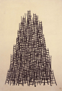 Tower series, 2013 ink on paper. 65 x 46 cm