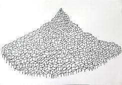 1-Birth of a new Mountain 2017, crayon o