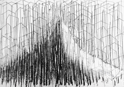 Mountains series, 2011. Acrylic and graphite on paper. 20 x 30 cm