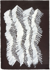Chains, 2017, acrylic on paper, 45 x 35 cm