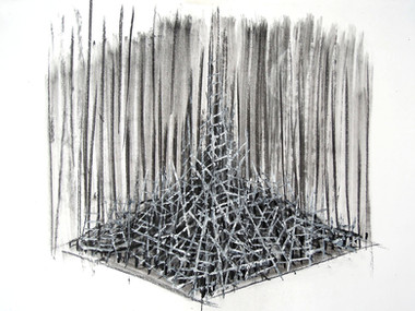 Mountains series, 2011. Acrylic and graphite on paper. 40 x 60 cm