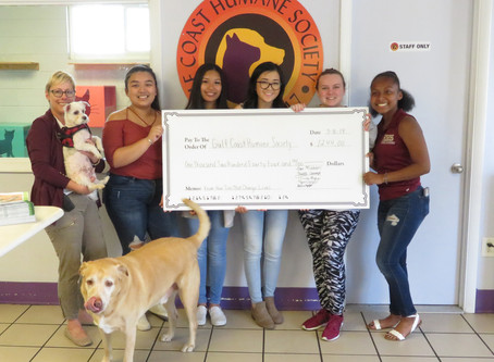 TEENS RAISE MONEY TO HELP GULF COAST HUMANE SOCIETY