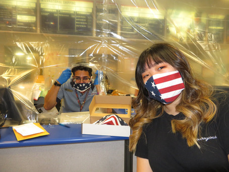MIAMI FASHION STUDENT DONATES FACE MASKS TO POSTAL WORKERS
