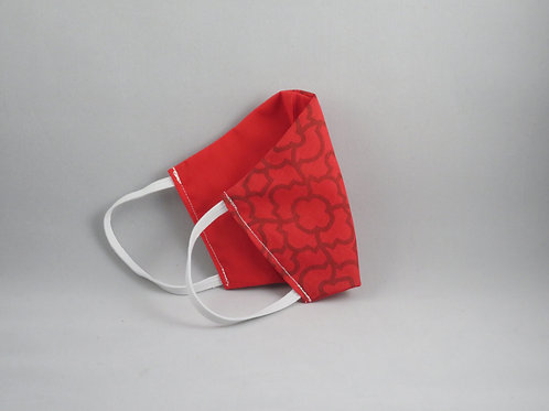 Geometric Red/Red Face Mask