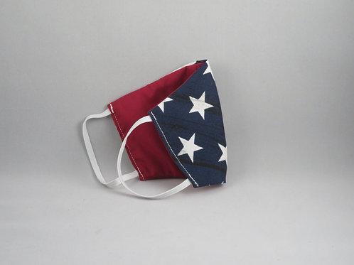 Medium American Flag/Red Face Mask