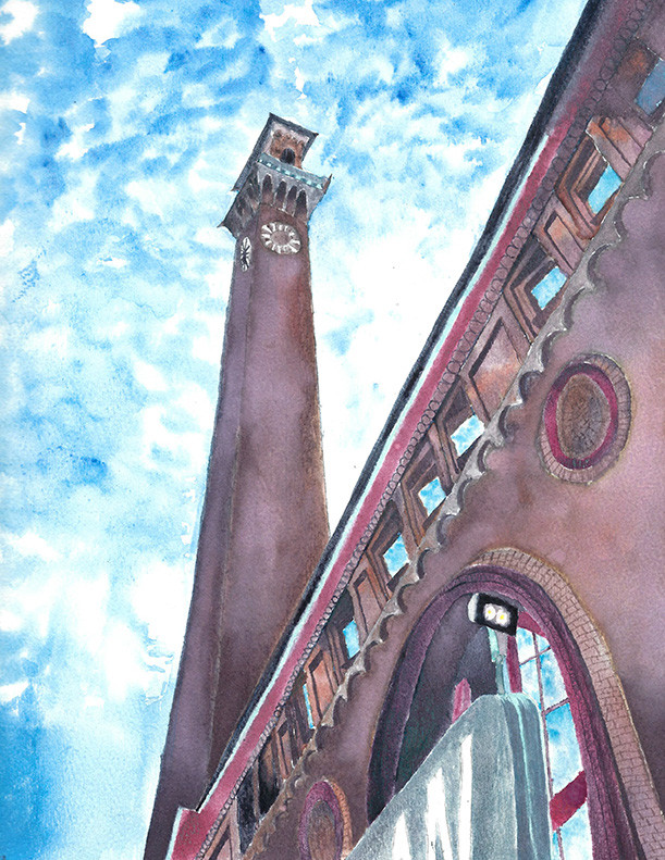Clock Tower Painting