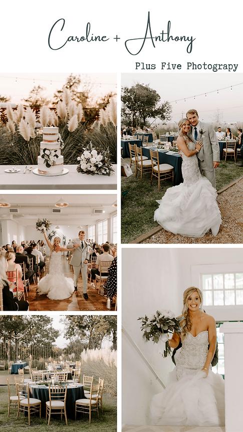 Real wedding in October. Indoor ceremony, outdoor reception.