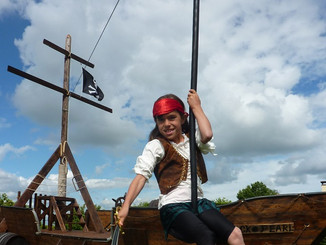 the pirate boat zip wire