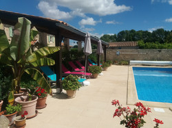 plenty of sun loungers by the pool