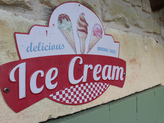ice creams available by the pool.