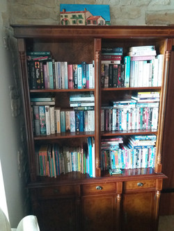 book & DVD library