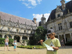 treasure hunt at a local chateau