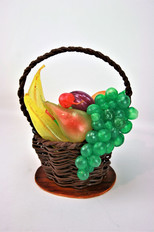 Obstkorb aus gezogenem Zucker
