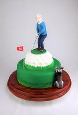 Motivtorte Golfer auf Golfball