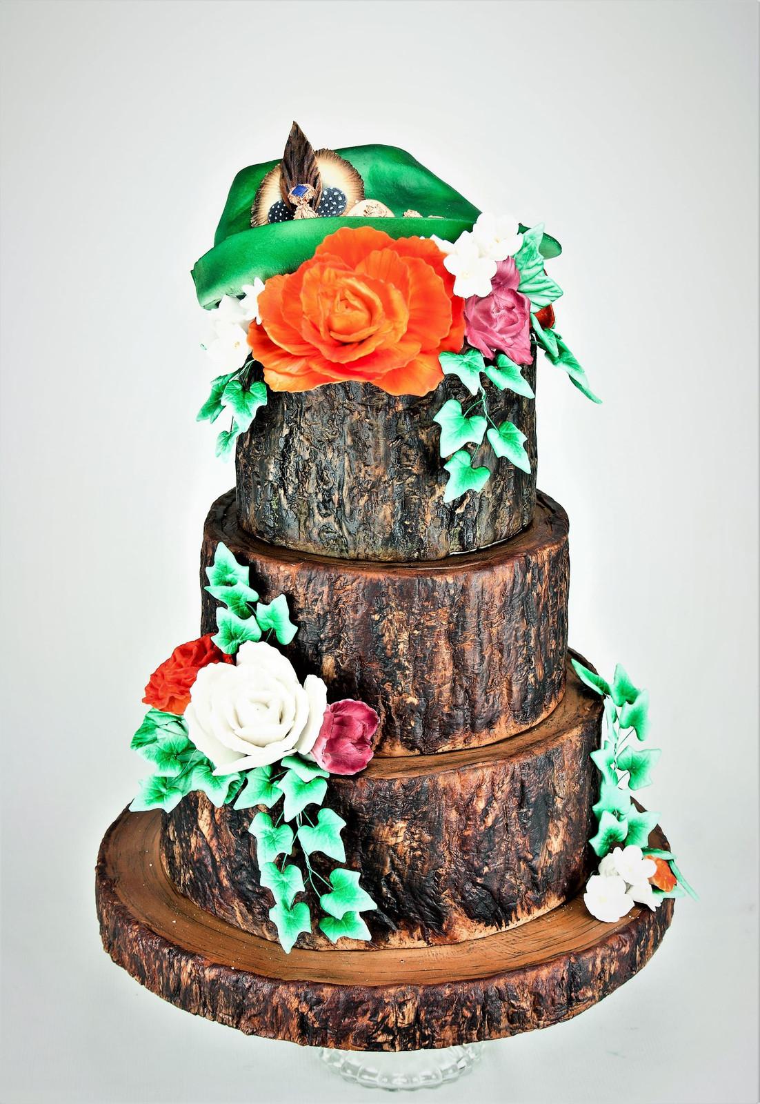 Hochzeitstorte Baumstamm