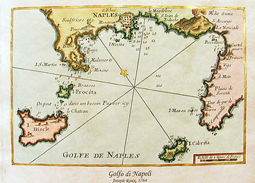 map of the bay of Naples