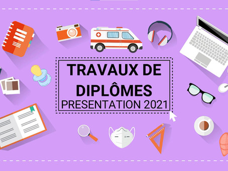 Les présentations des travaux de diplôme c'est le 8 juillet 2021