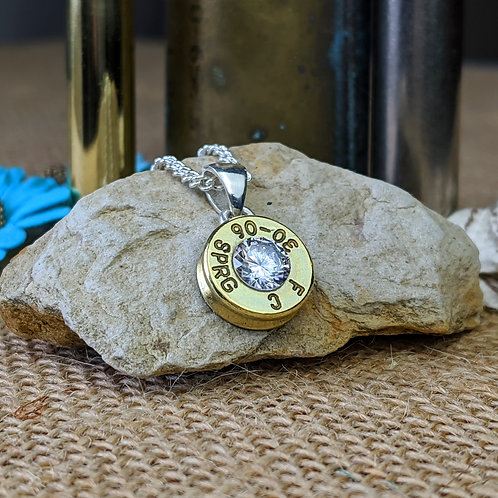 30-06/308 Brass CZ Pendant