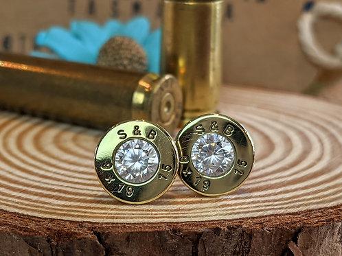 9mm Brass CZ Studs