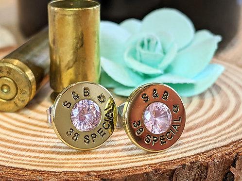 38 Special Pink CZ Studs