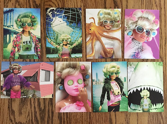 TURLEEN GREETING CARD SET of 8