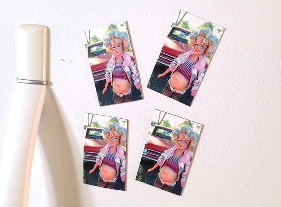 TURLEEN REFRIGERATOR MAGNETS Set of 4