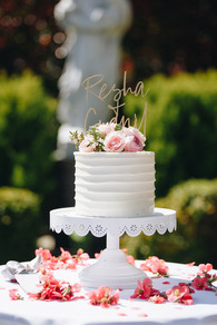 Small Pleat Cutting Cake