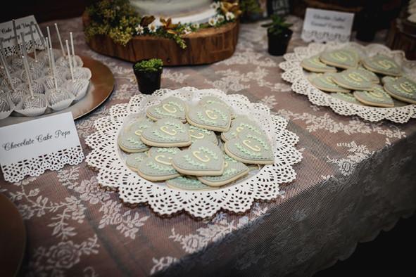 Monogram Wedding Cookies