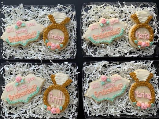 Be My Bridesmaid Cookies