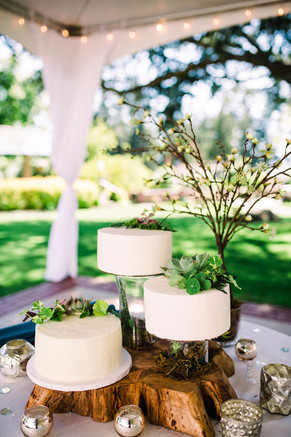 Woodland and Greenery Wedding Cake