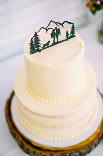 PNW Rustic Wedding Cake