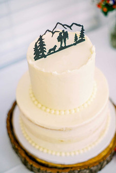 PNW Rustic Wedding Cake