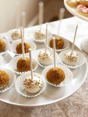 White & Gold Cake Pops