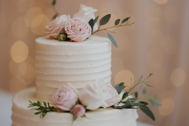 Romantic Pleat Cake