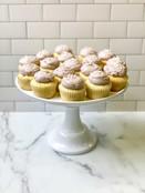 Lemon Poppy Seed Blueberry Cupcake