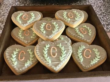 Monogrammed Wedding Cookies