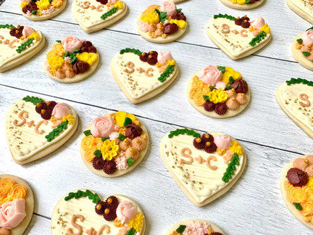 Fall Floral Wedding Cookies