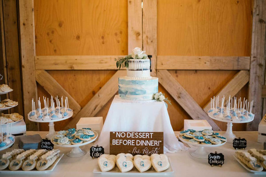 Dusty Blue Themed Wedding