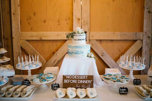 Dusty Blue Wedding Cake