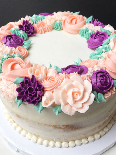 Floral Wreath Cake